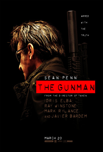 "Poster for the movie ""The Gunman"""